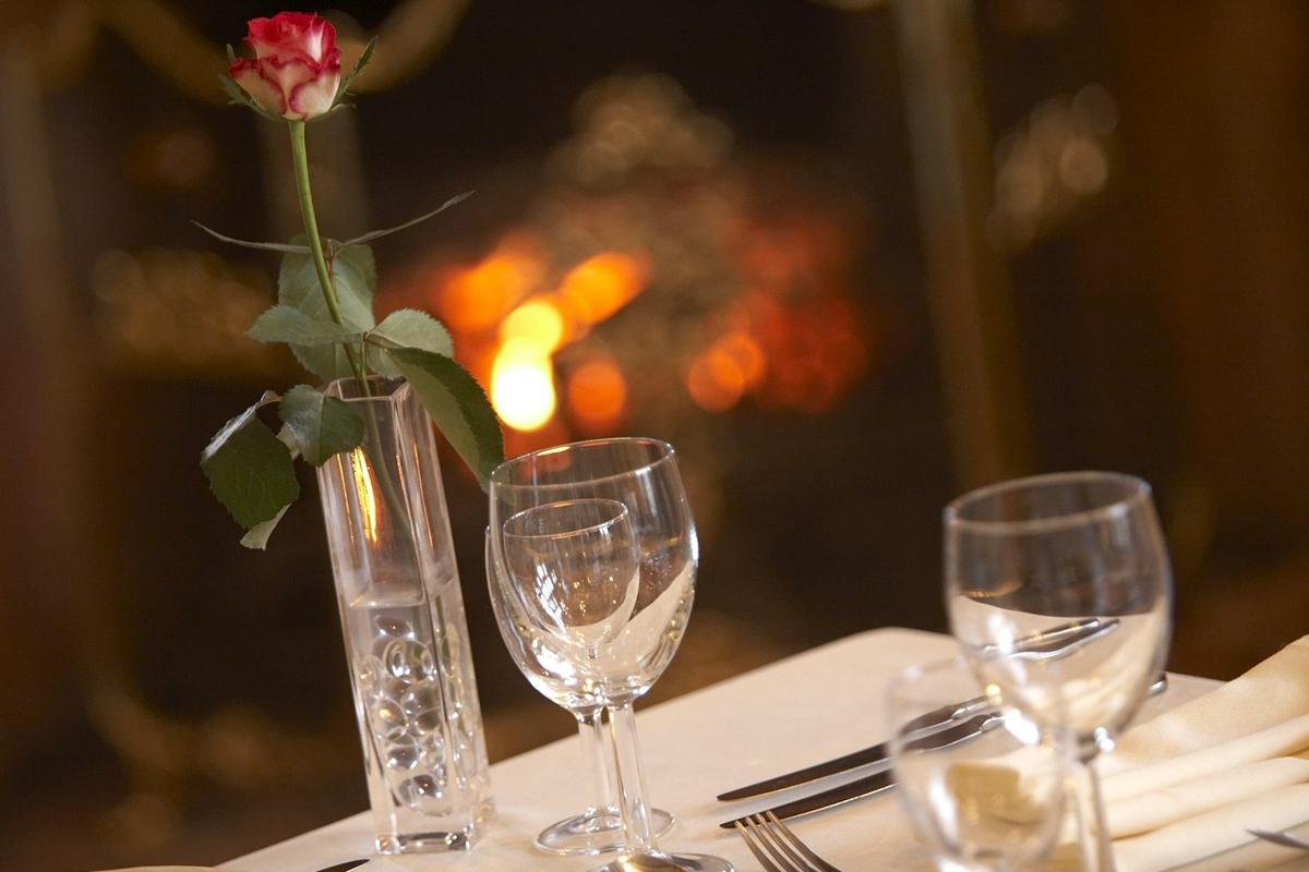 Romantic Fire side dinner