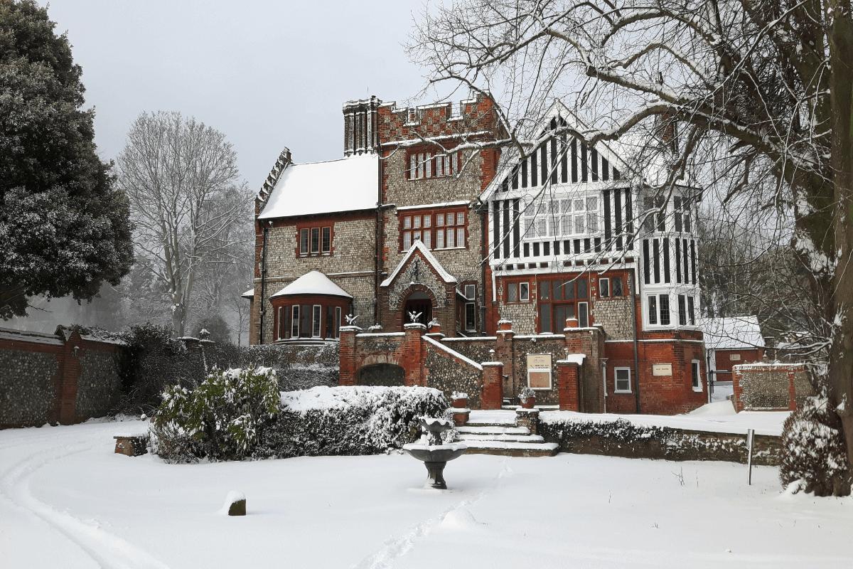 Dales in snow