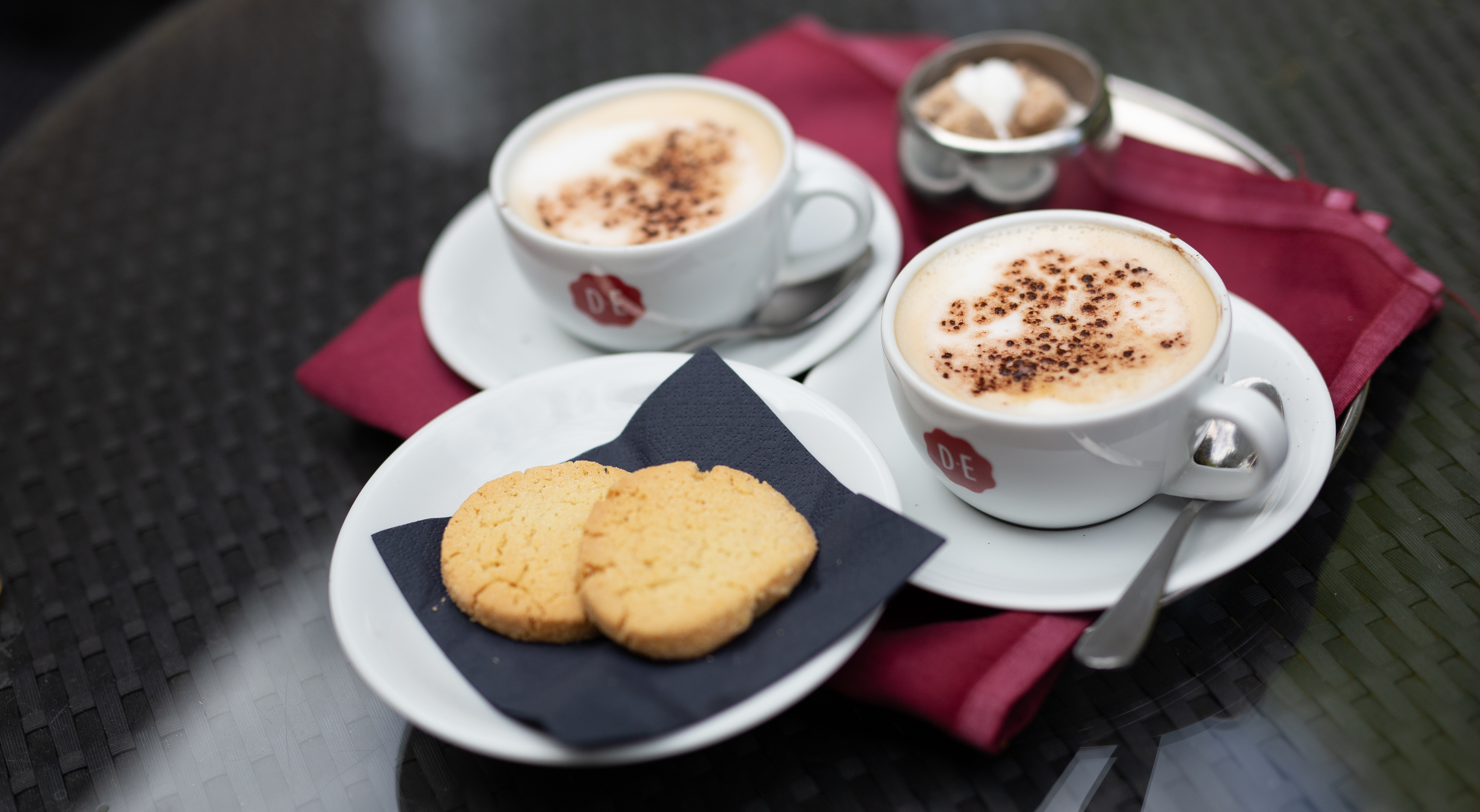 Coffee and homemade biscuits